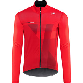 Castelli Pro Fit Light Rain Jacket Herre red